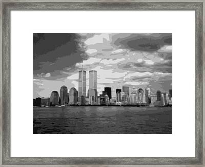 Twin Towers Bw10 Framed Print by Scott Kelley
