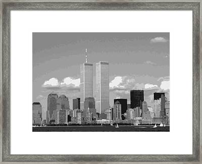 Twin Towers Bw12 Framed Print