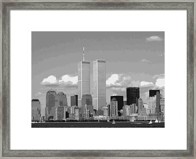 Twin Towers Bw12 Framed Print by Scott Kelley