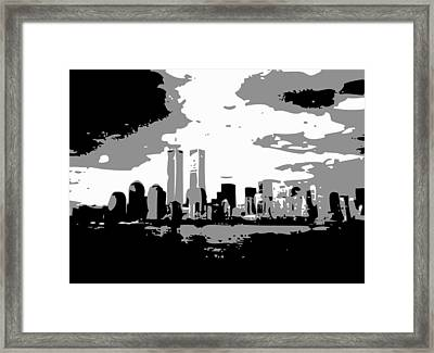 Twin Towers Bw3 Framed Print