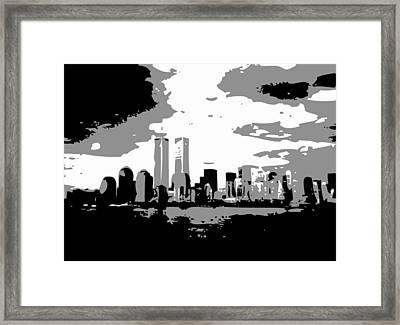 Twin Towers Bw3 Framed Print by Scott Kelley