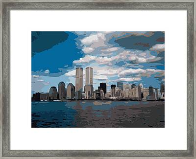 Twin Towers Color 16 Framed Print