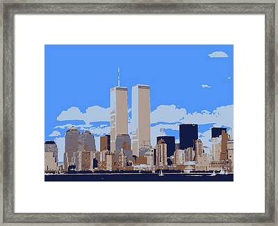 Twin Towers Color 6 Framed Print