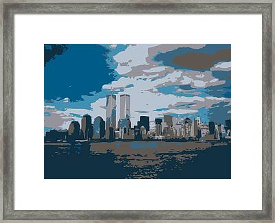 Twin Towers Color 7 Framed Print by Scott Kelley