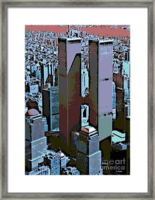 Twin Towers Framed Print by George Pedro