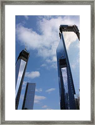 Twin Towers Framed Print by Kristin Elmquist