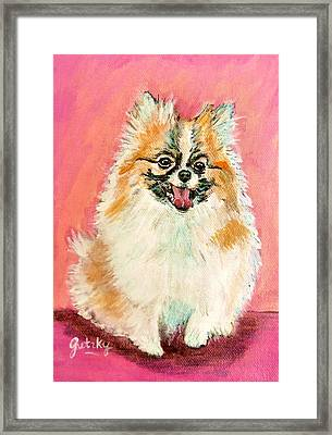 Twinki Gurl Framed Print by Paintings by Gretzky