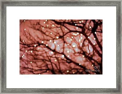 Twinkle- Red Framed Print