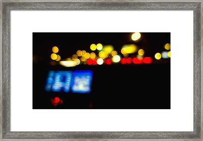 Twinkling Traffic Lights Framed Print by Susan Stone