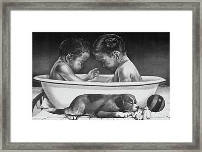 Twins Framed Print by Curtis James