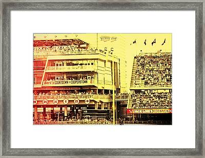 Twins Fans Countdown To Cooperstown Framed Print by Susan Stone