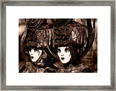 Twins In Sepia Framed Print by Simona  Mereu