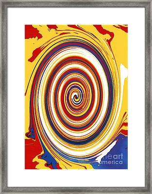 Framed Print featuring the digital art Twirl 1 by Bill Thomson
