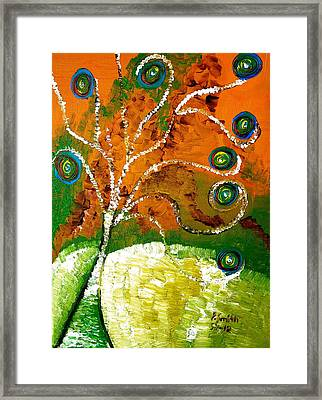 Twirl Pop Tree Framed Print by Pretchill Smith