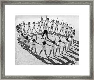 Twirling Club Framed Print