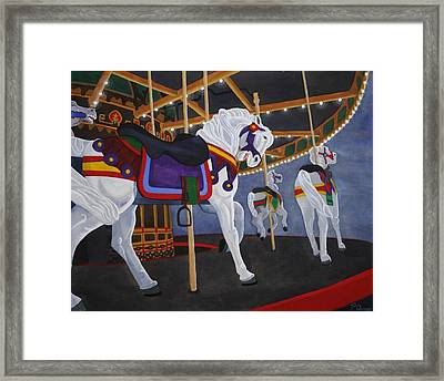 Framed Print featuring the painting Twirling Trio by Paul Amaranto