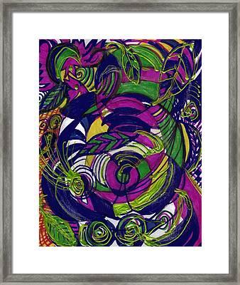 Twirls And Swirls Framed Print by Anne-Elizabeth Whiteway