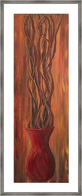 Framed Print featuring the painting Twisted by Christie Minalga