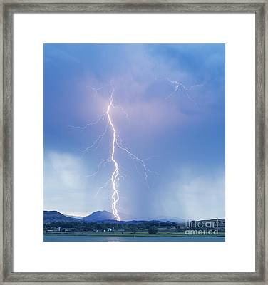 Twisted Lightning Strike Colorado Rocky Mountains Framed Print