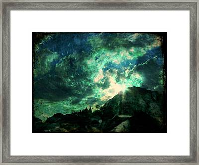 Twisted Nimbus Framed Print by Leah Moore