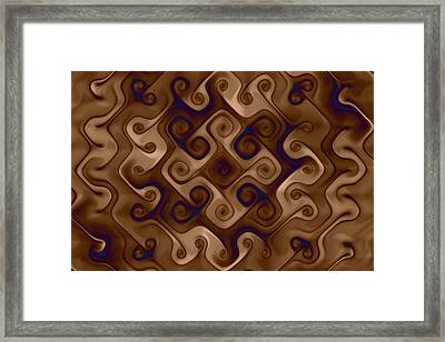 Twisting Curls Framed Print by Mark Eggleston