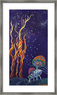 Twisting In The Night Framed Print by Mindy Huntress