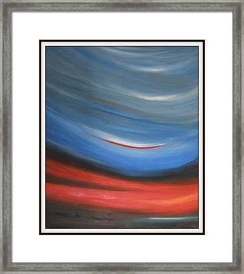 Twisting Sunset Framed Print by Joanna Georghadjis