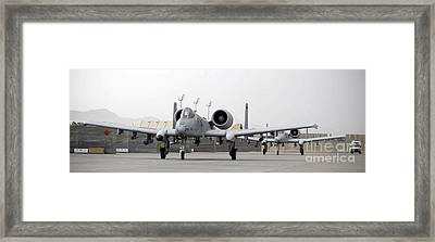 Two A-10 Thunderbolts Taxi Framed Print