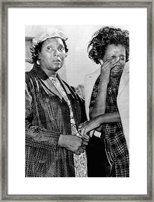 Two African American Women Stand Framed Print by Everett