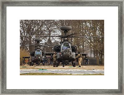 Two Ah64 Apaches Framed Print by Ken Brannen