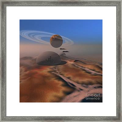 Two Aircraft Fly Over Domes Framed Print by Corey Ford