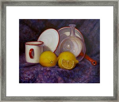 Two And A Half Lemons Framed Print by Donelli  DiMaria