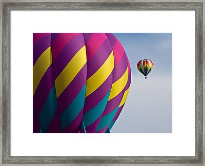 Balloon Race Framed Print by Pat Eisenberger