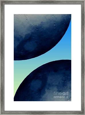 Two Blue Framed Print