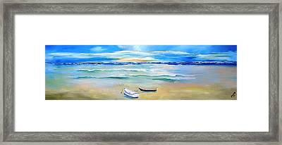 Two Boats Ashore  Framed Print