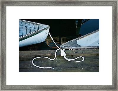 Two Bows Framed Print by Ron St Jean