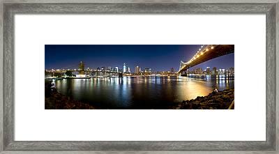 Two Bridges Framed Print
