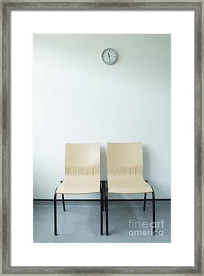 Two Chairs And A Clock Framed Print by Iain Sarjeant