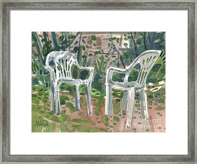 Two Chairs Framed Print by Donald Maier
