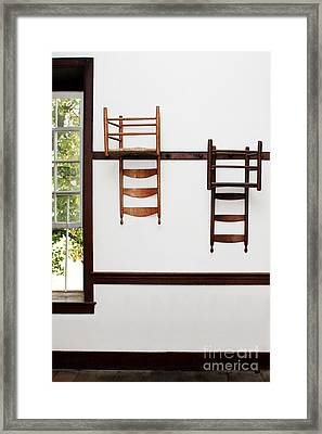 Two Chairs Framed Print by Stephanie Frey
