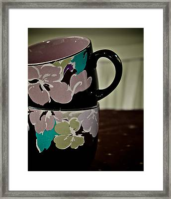 Two Cups Framed Print