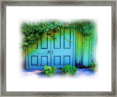 Two Doors Framed Print by Judi Bagwell