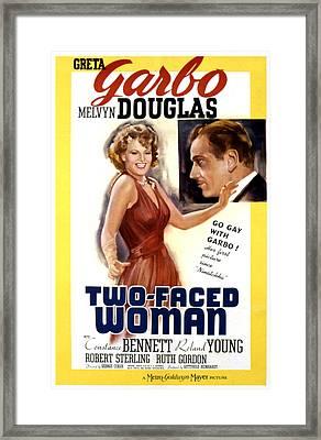 Two-faced Woman, Greta Garbo, Melvyn Framed Print by Everett