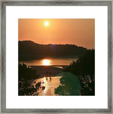 Two Fishermen Framed Print by Miguel Capelo