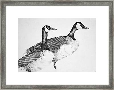Two Geese Framed Print by Mick Gwin