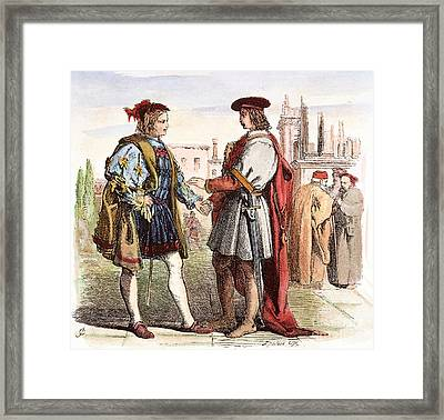 Two Gentlemen Of Verona Framed Print by Granger