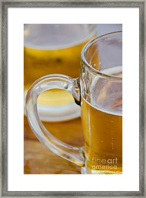 Two Glasses Of Beer Framed Print
