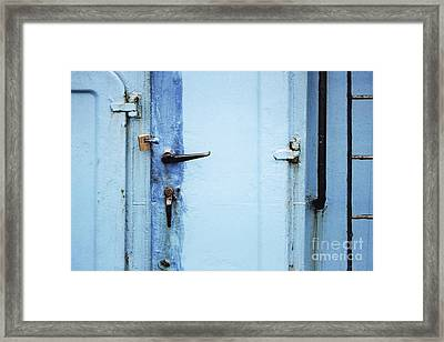 Two Handles And A Padlock Framed Print