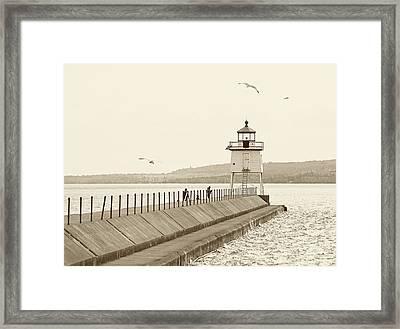 Two Harbors Framed Print