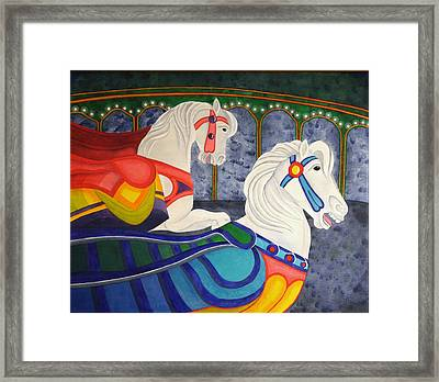 Two Horse Metamorphosis Framed Print